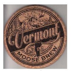 Coaster Cork - Moose Brew