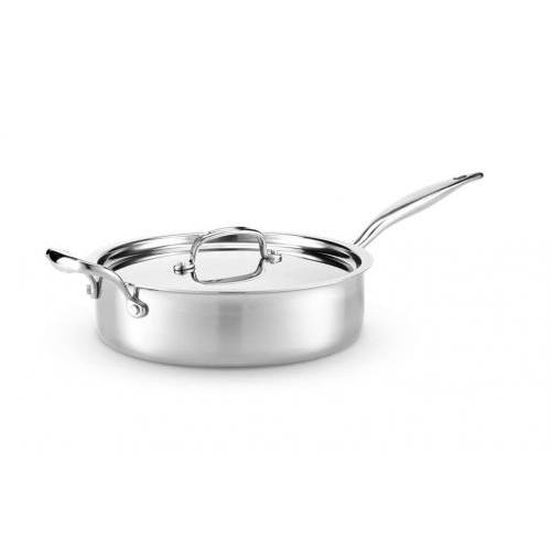 Cookware 4qt Saute With Cover (7-ply Multi-clad Stainless Steel)