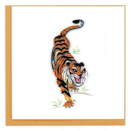 Any Occasion - Quilling Card - Tiger