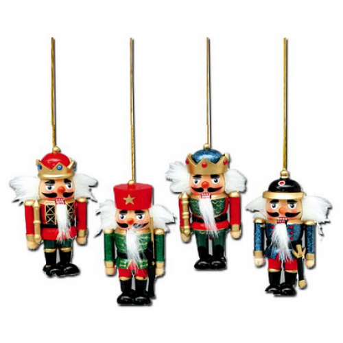 Ornament - Wooden Nutcracker 4inch