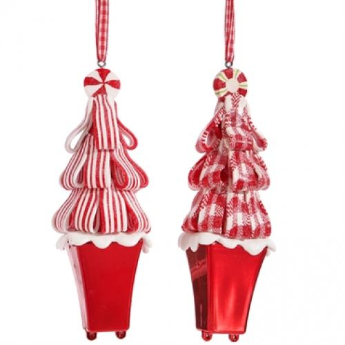Ornament Candy Cane Trees 5in.