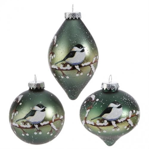Ornament Chickadee 3in