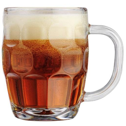 Drinkware Glass Beer Mug Handled Paneled 22oz 4 Pieces (5.99ea)