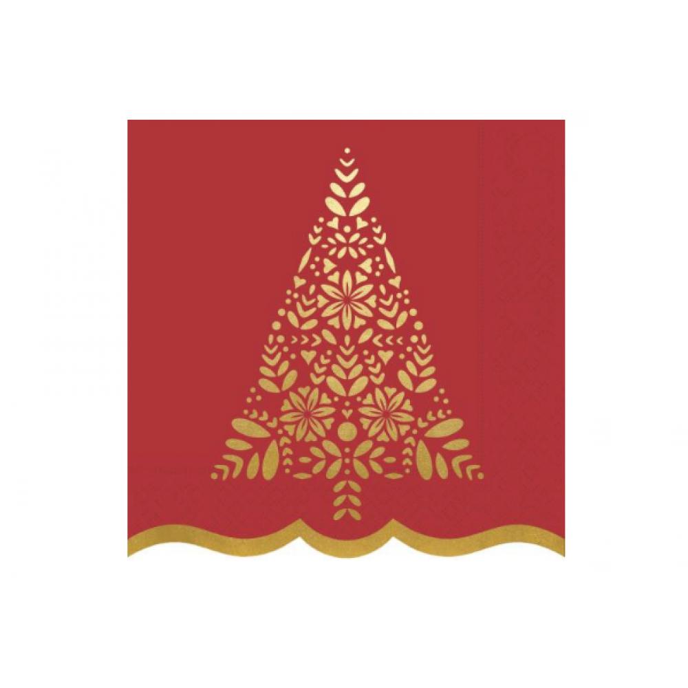 Cocktail Napkin - Gilded Tree