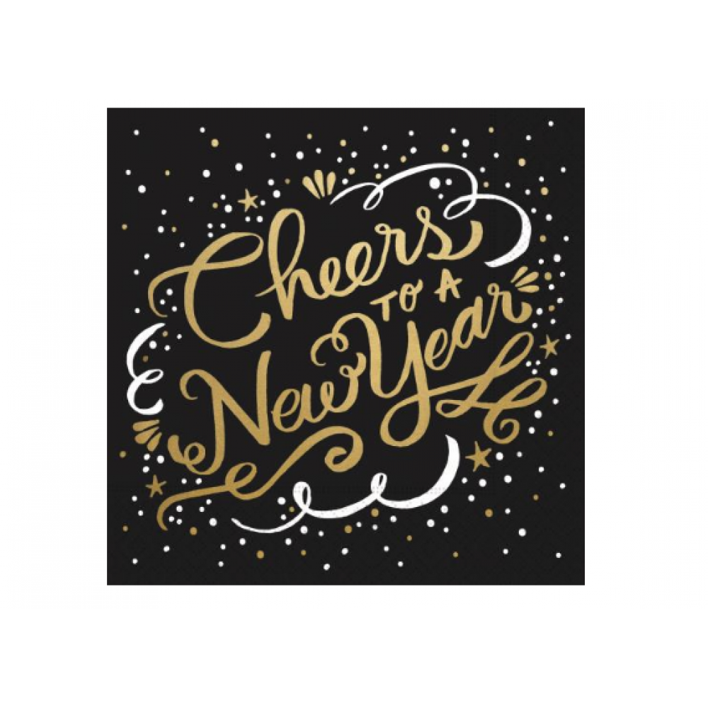 Cocktail Napkin - Cheers To A New Year