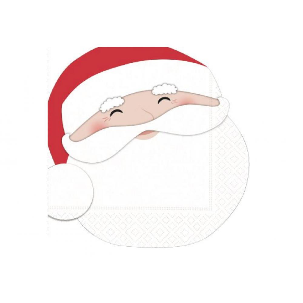 Cocktail Napkin - Merry Santa