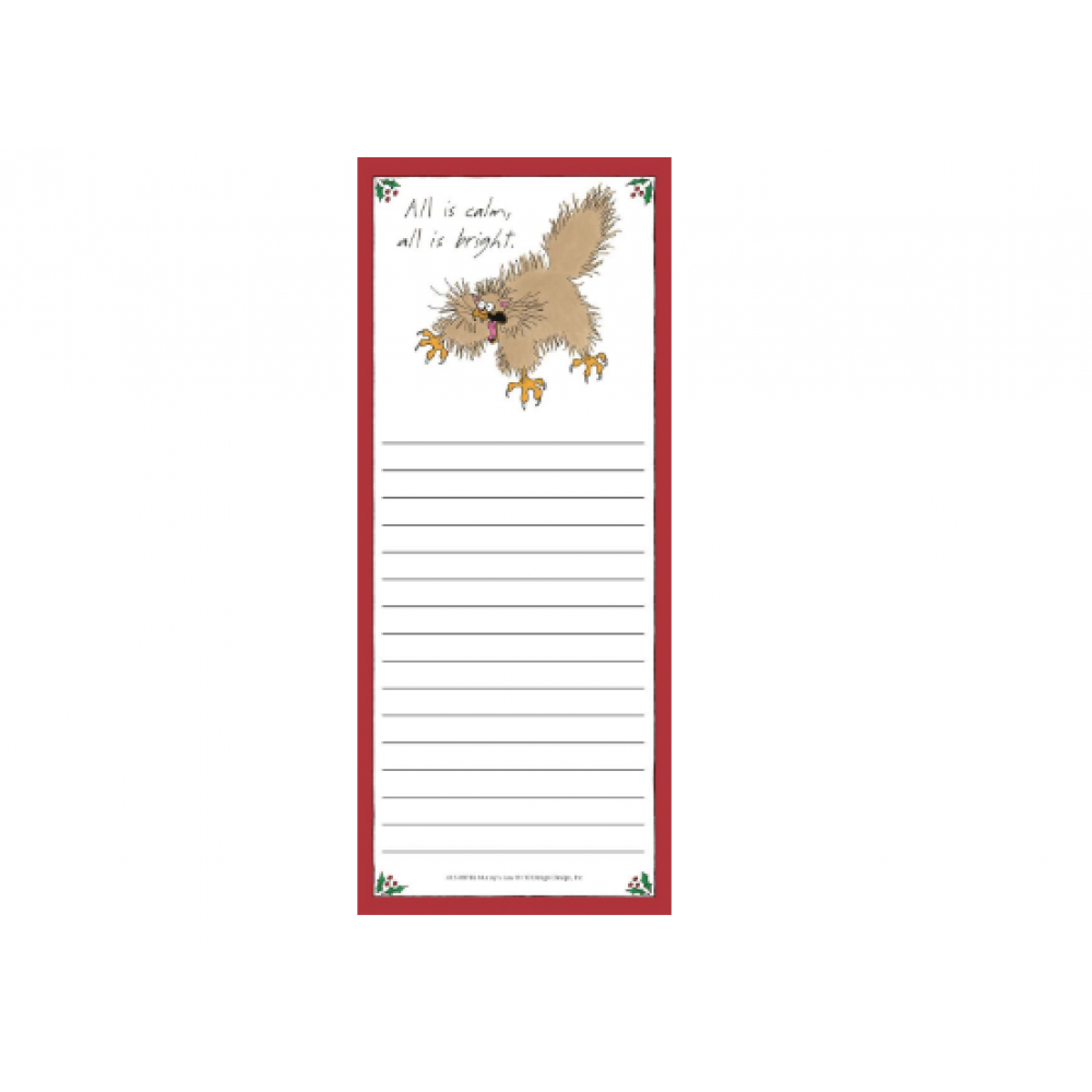 Magnetic List Pad - All Is Calm Cat