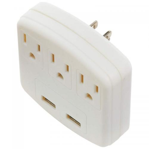 Adapter 3 Port Ac Outlet/2 Usb Port (mitaki-japan)