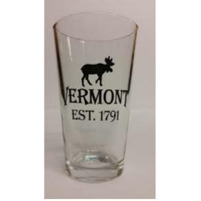 Pint Glass Vermont Moose