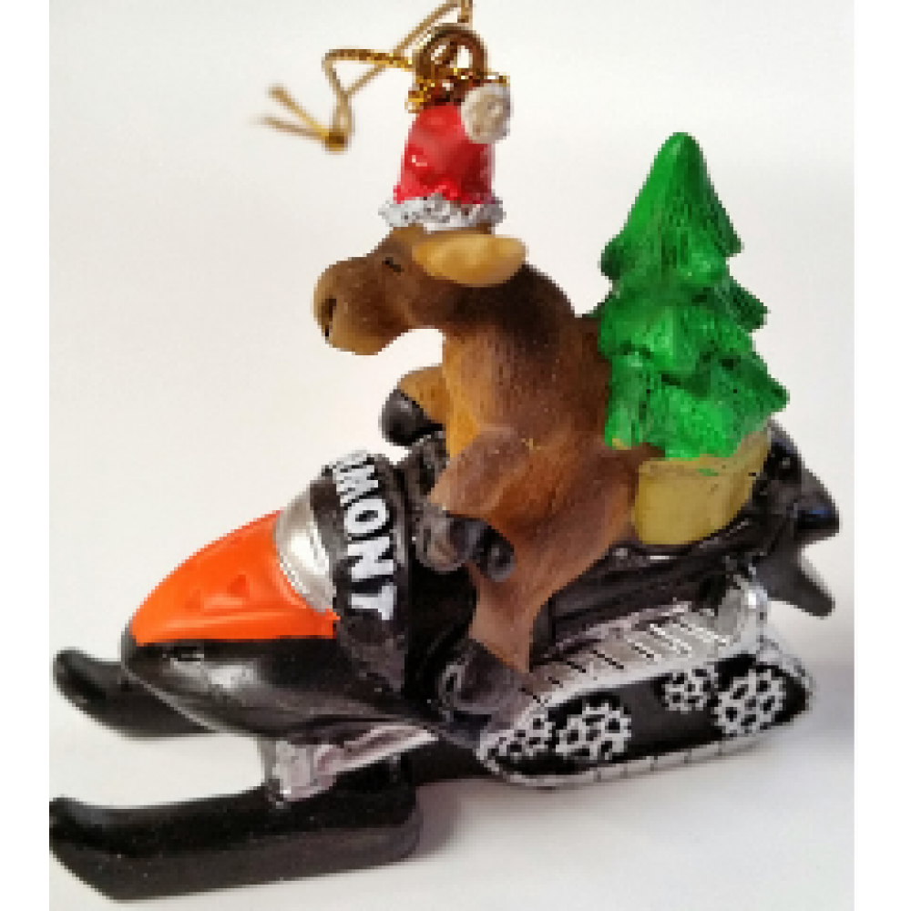 Ornament - Moose On Snowmobile