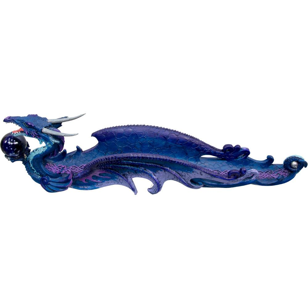 Incense Holder Dragon With Sphere Purple