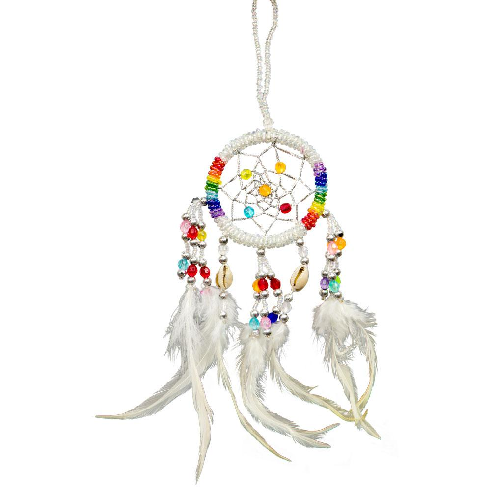 Dream Catcher Beaded Chakras White