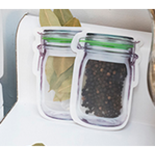 Mason Jar Zipper Bag - Xs Set Of 6