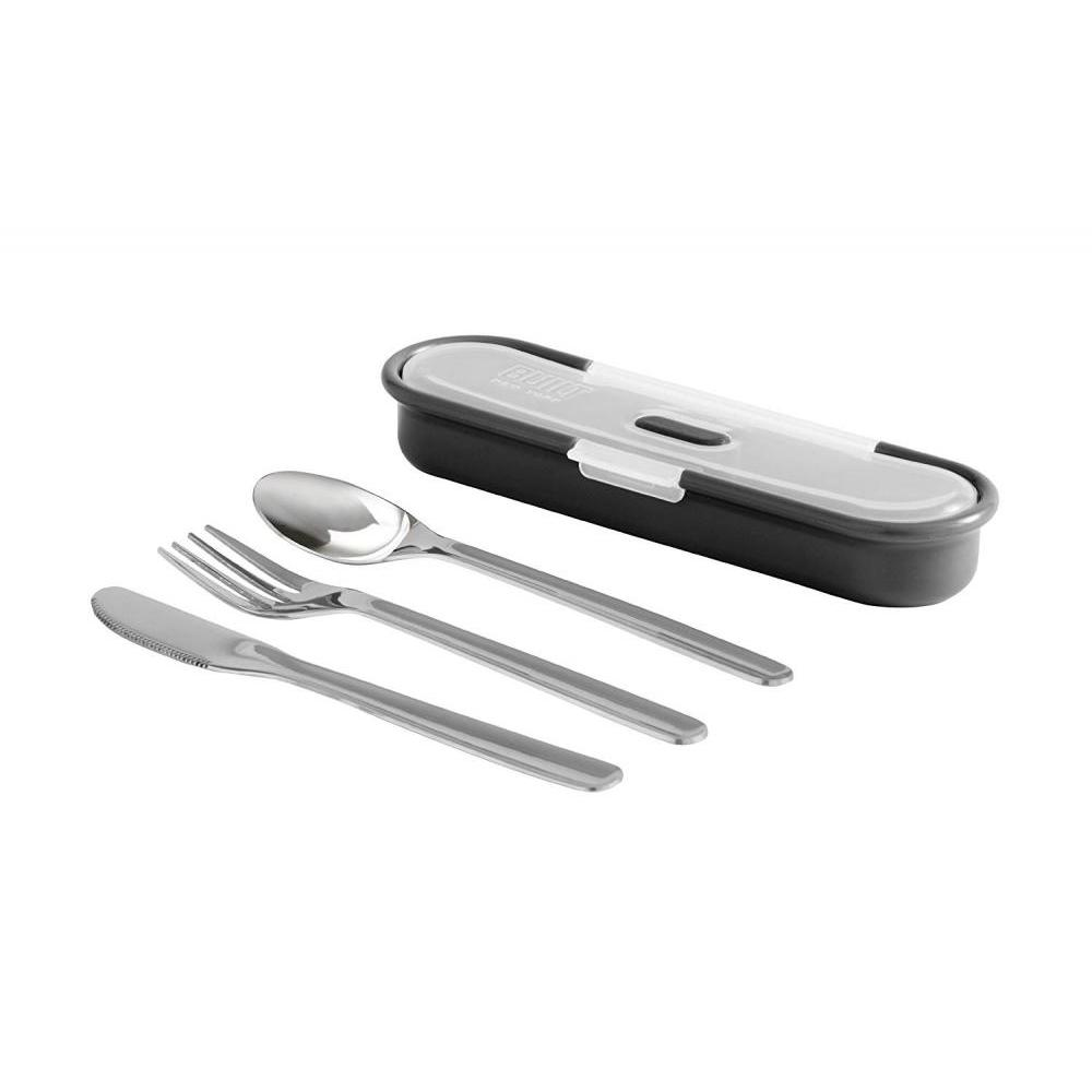 4pc Gourmet Stainless Steel Bento Utensils W/ Case