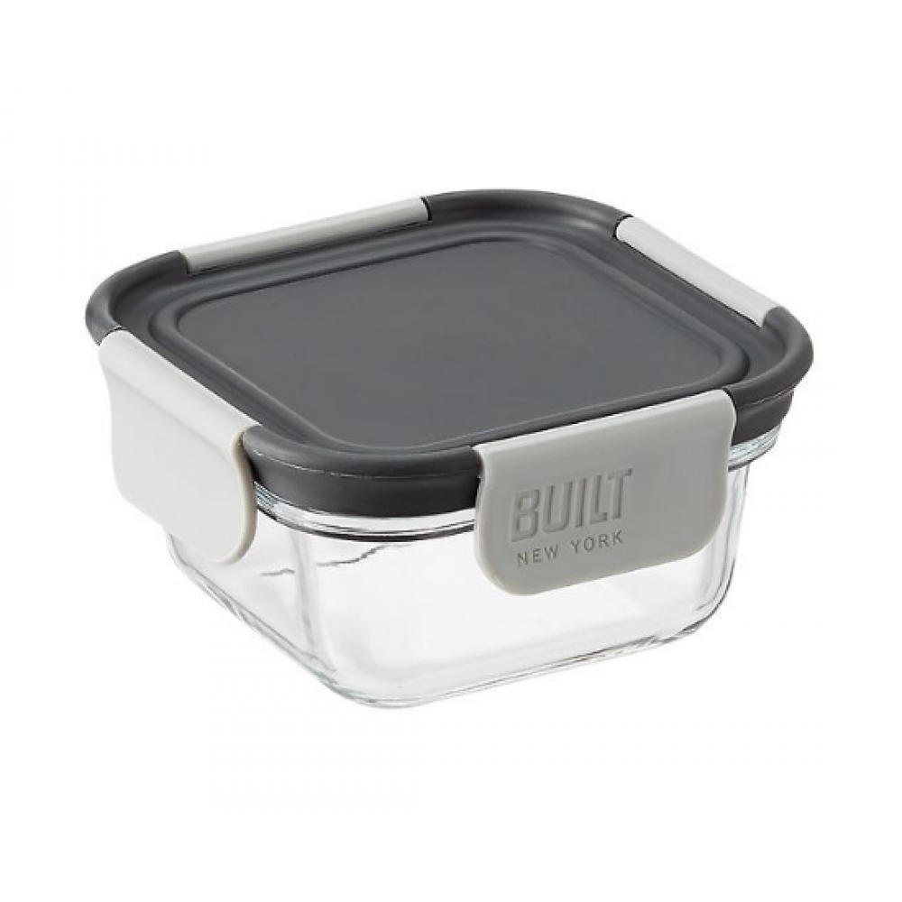 BUILT NY Gourmet 10oz Glass Snack Bento