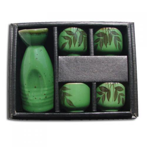 Sake Set Leaf Design