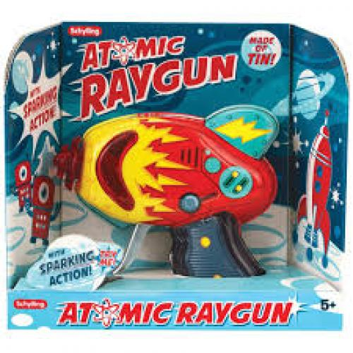 Ray Gun Atomic Retro Tin