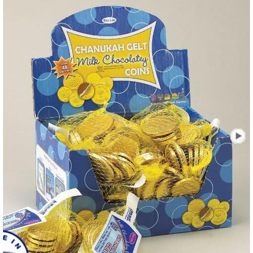 Chanukah -gelt Milk Chocolate Candy .5oz