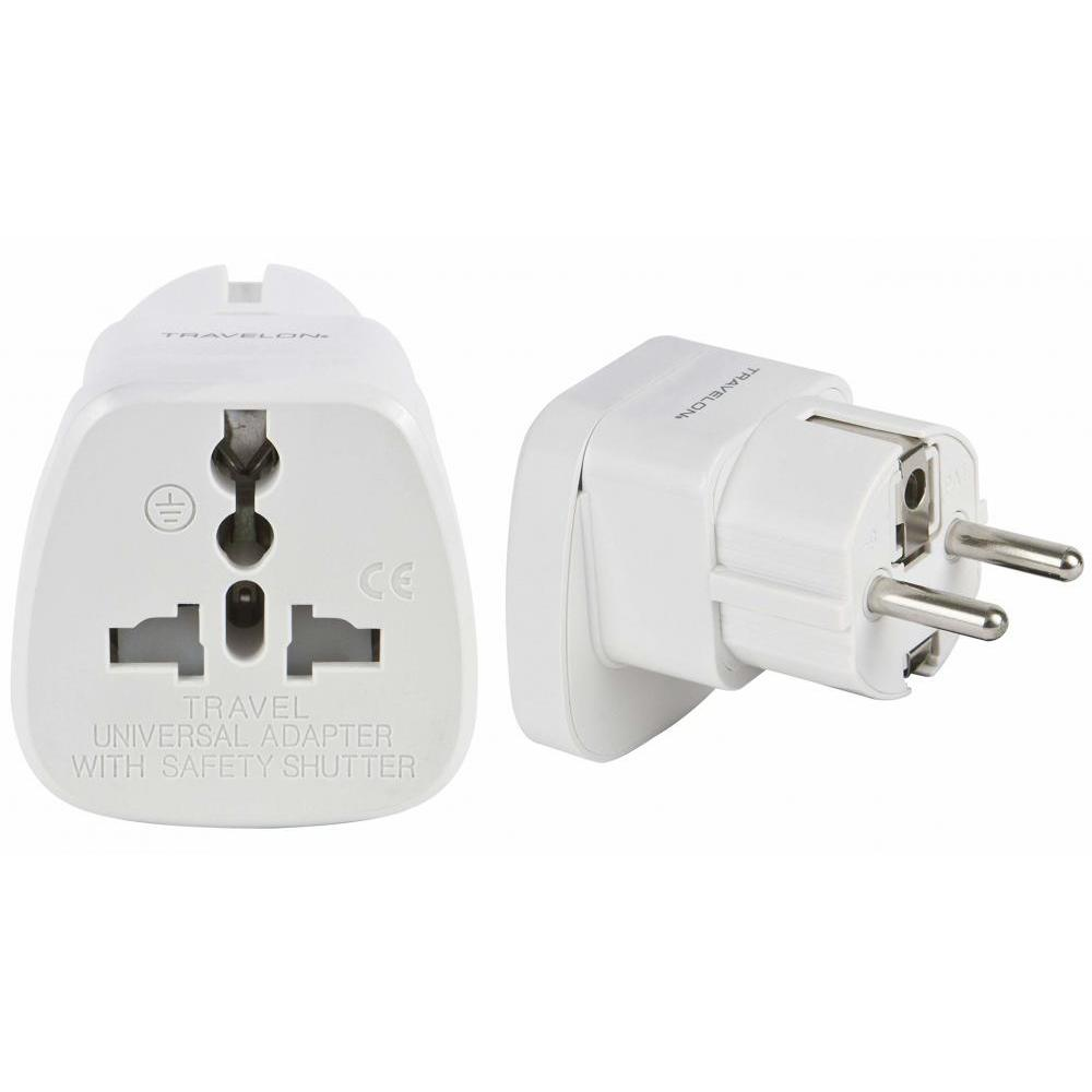 Grounded Adapter Plug Universal Recepticle For Europe