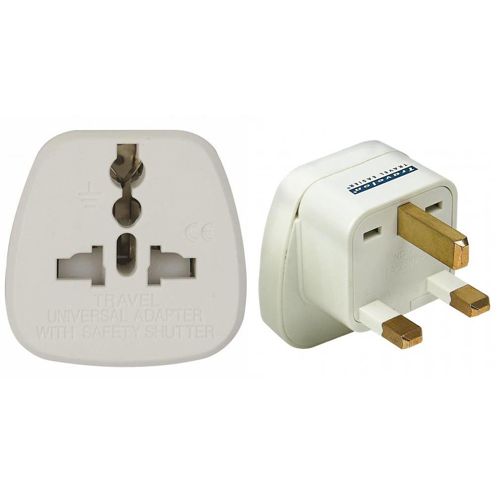 Grounded Adapter Plug Universal Recepticle For Uk