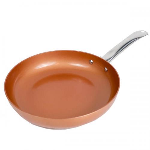 "Cookware Fry Pan Skillet Non-stick Copper Ceramic 9.5"""