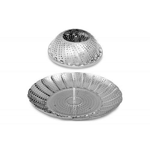 Cookware Vegetable Steamer Standing Metal-stainless Steel 11in