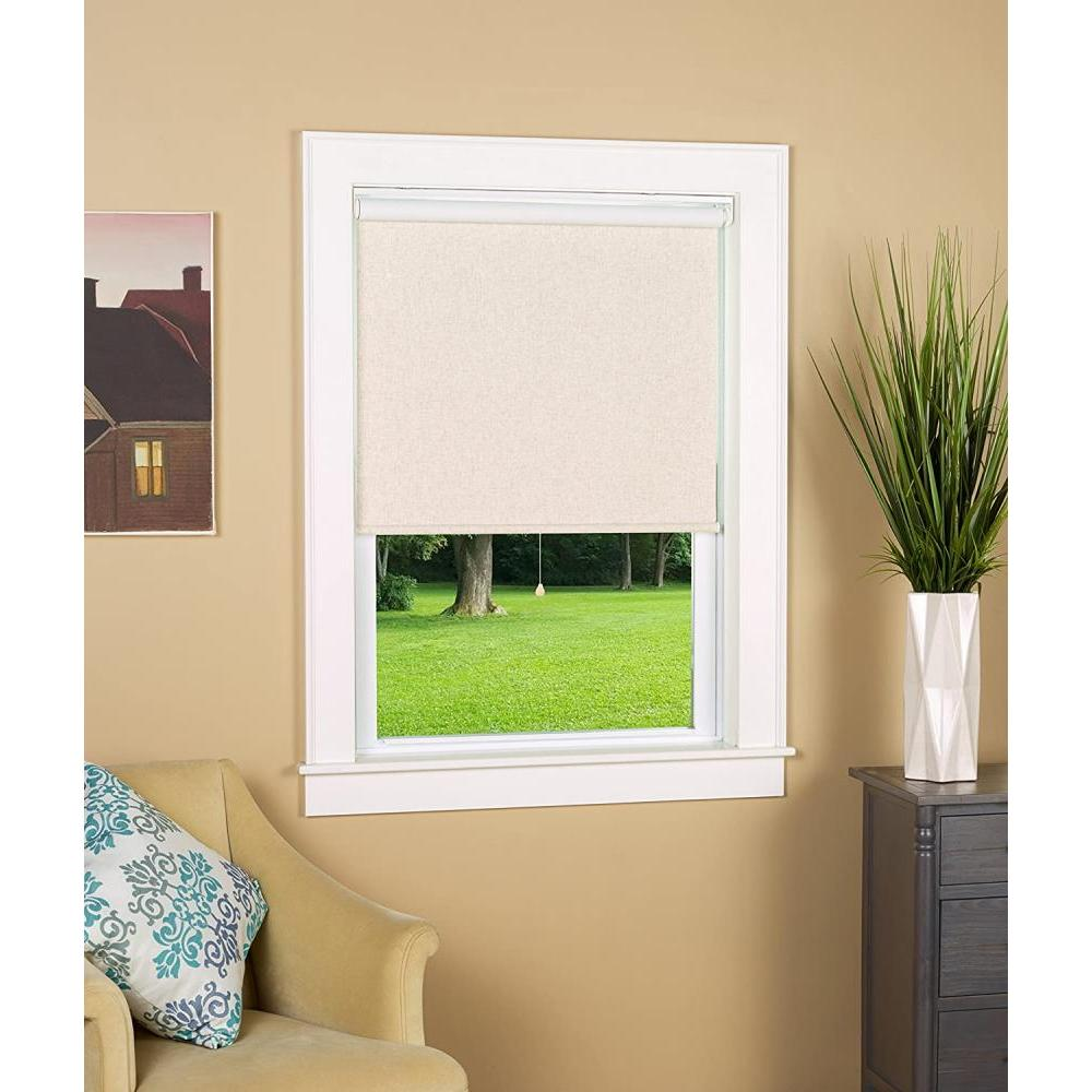 Black Out Cordless Roller Shade Linen 27in X 72in