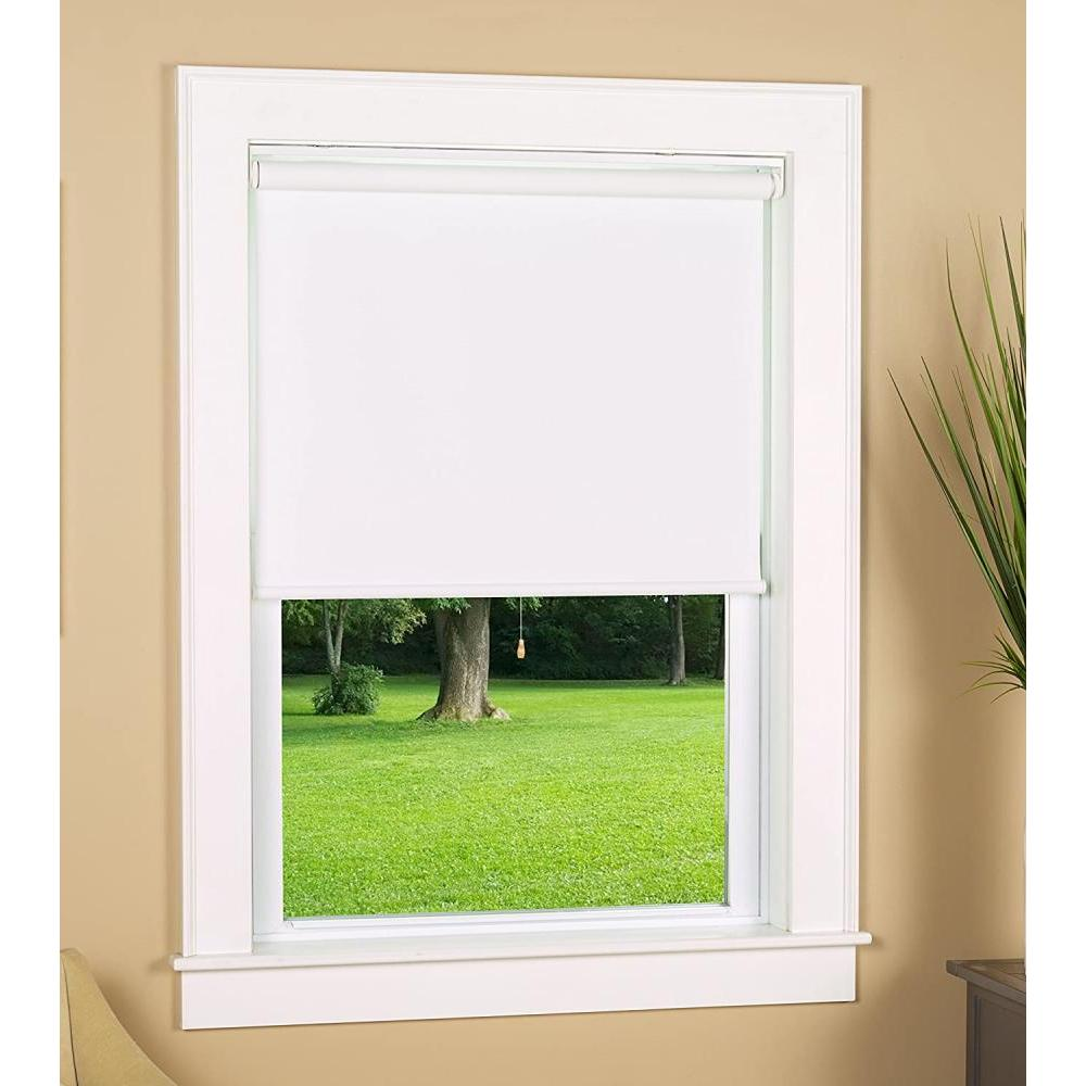 Black Out Cordless Roller Shade White 24in X 72in