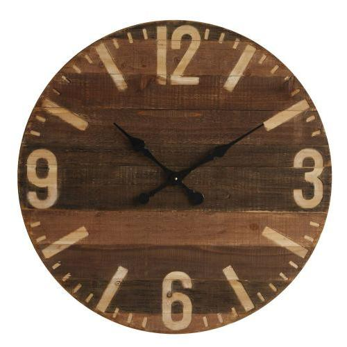 Wall Clock Wood 30in