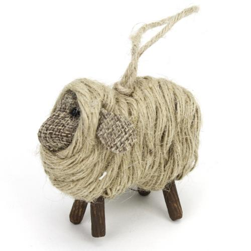 Ornament Hanging Sheep With Rope Wrapped