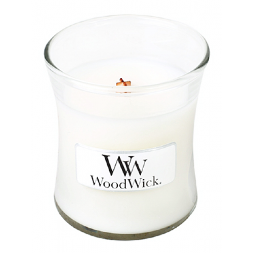 Woodwick Mini Candle Jar White Tea And Jasmine 3oz 20 Hour Burn Time