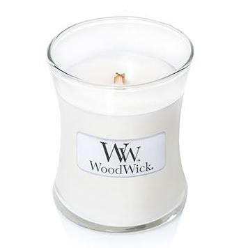 Woodwick Mini Candle Jar Linen 3oz 20 Hour Burn Time