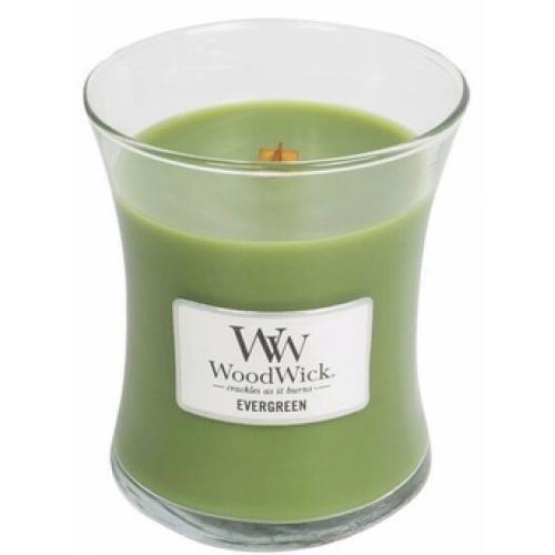 Woodwick Medium Candle Jar Evergreen 10oz 60 Hour Burn Time