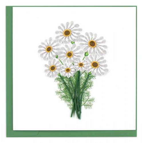 Any Occasion - Quilling Card - White Daisies