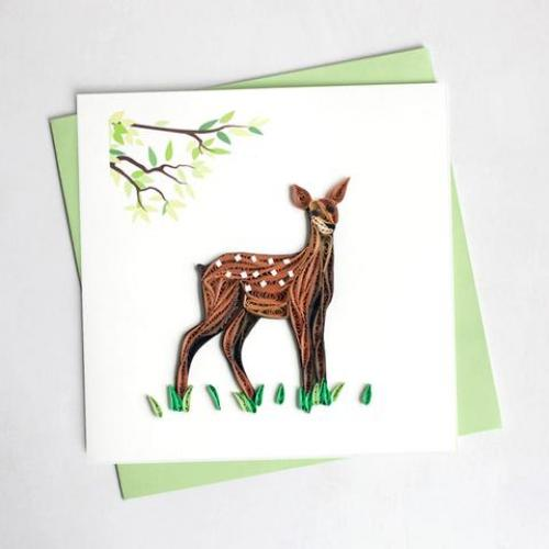 Any Occasion - Quilling Card - Fawn