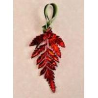 Ornament Fern Iridescent (red)