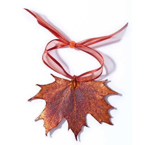 Ornament Copper Iridescent Sugar Maple