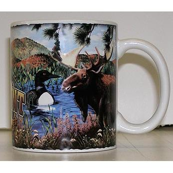 Mug Vermont Wildlife Campfire Animals Marble