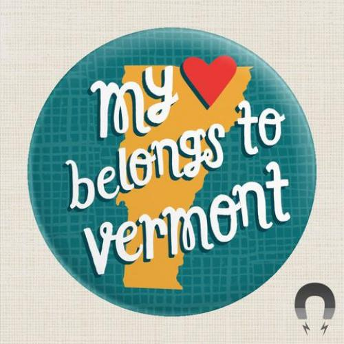 Magnet - My Heart Blelongs To Vermont