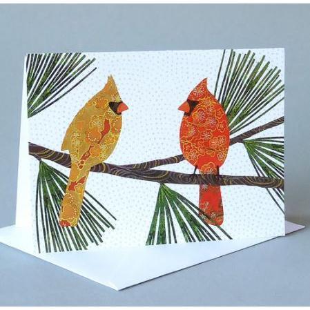 Vermont Artist - Winter - Pair Of Cardinals