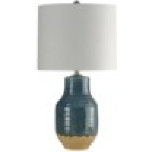 Provo Ceramic Table Lamp Navy Dipped Glaze 30in High
