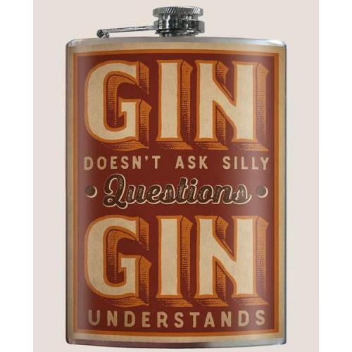 Travel Pocket Flask - Gin Understands