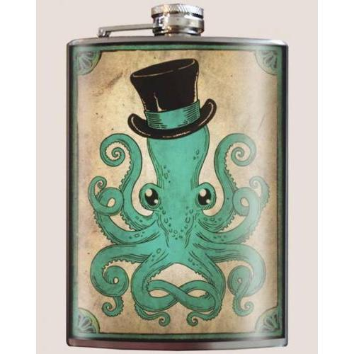 Travel Pocket Flask - Octopus