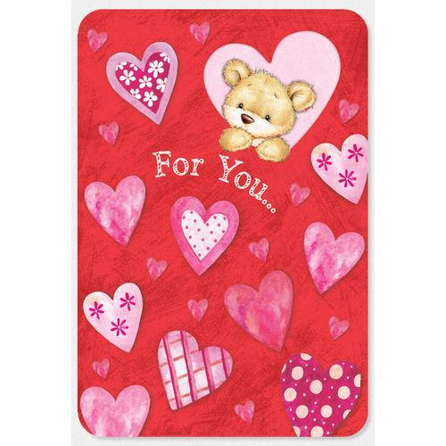 Valentine - Teddy Bear & Heart Die-cut