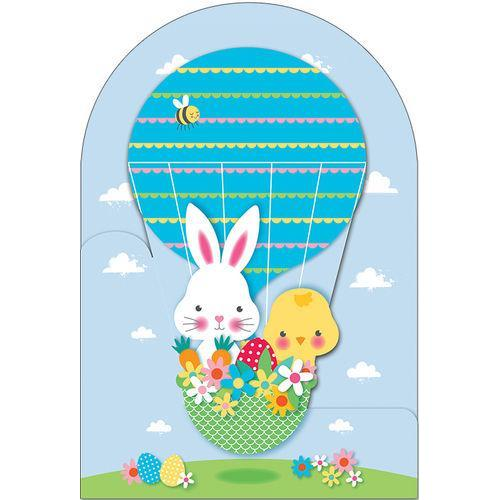 Easter - Bunny & And Chick In Air Balloon