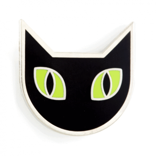 Enamel Pin - Black Cat