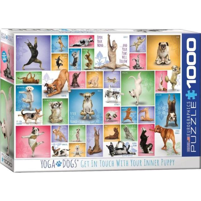 Puzzle 1000 Piece Yoga Dogs