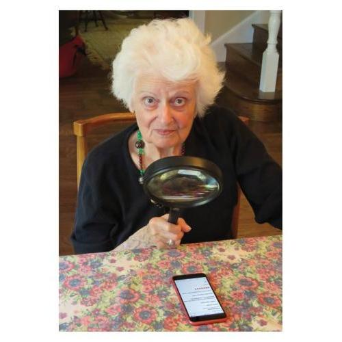Birthday - Magnifying Lady
