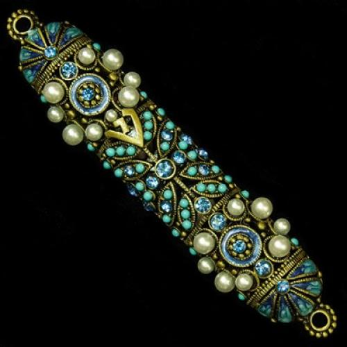 Jeweled Mezuzah Case Sm
