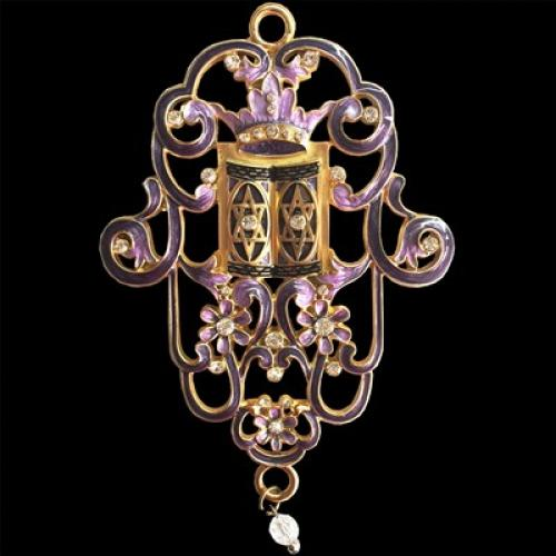 Jeweled Wall Hanging - Purple